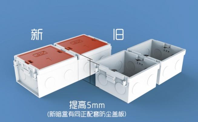 同正产品升级:86型承插组合式暗盒